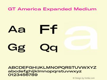 GTAmerica-ExpandedMedium Version 1.003;PS 001.003;hotconv 1.0.88;makeotf.lib2.5.64775图片样张