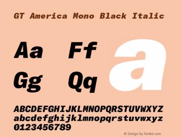 GTAmericaMono-BlackItalic Version 1.003;PS 001.003;hotconv 1.0.88;makeotf.lib2.5.64775图片样张