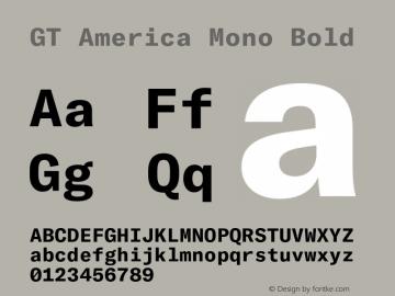 GTAmericaMono-Bold Version 1.003;PS 001.003;hotconv 1.0.88;makeotf.lib2.5.64775图片样张