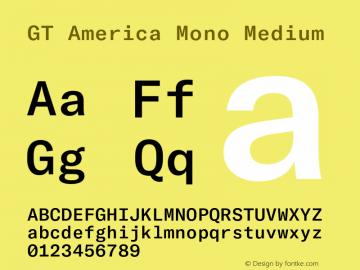 GTAmericaMono-Medium Version 1.003;PS 001.003;hotconv 1.0.88;makeotf.lib2.5.64775图片样张