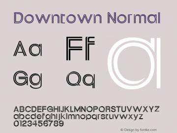 Downtown Normal Altsys Fontographer 4.1 1/30/95 Font Sample