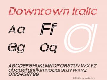 Downtown Italic Altsys Fontographer 4.1 1/30/95 Font Sample