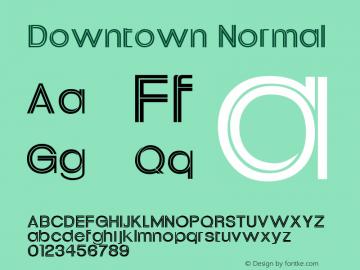 Downtown Normal Altsys Fontographer 4.1 11/2/95 Font Sample