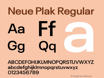 Neue Plak SemiBold Version 1.00图片样张