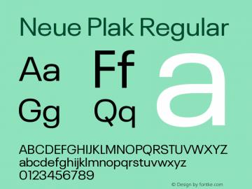 Neue Plak Regular Version 1.00图片样张