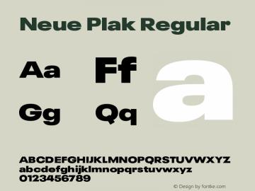 Neue Plak Wide ExtraBlack Version 1.00图片样张