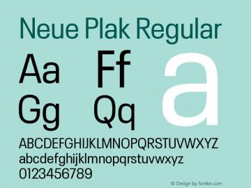Neue Plak Narrow Regular Version 1.00图片样张