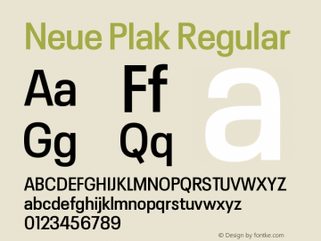 Neue Plak Narrow SemiBold Version 1.00图片样张