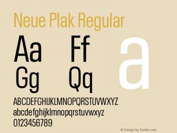 Neue Plak Condensed Regular Version 1.00图片样张