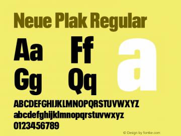 Neue Plak Condensed XBlack Version 1.00图片样张