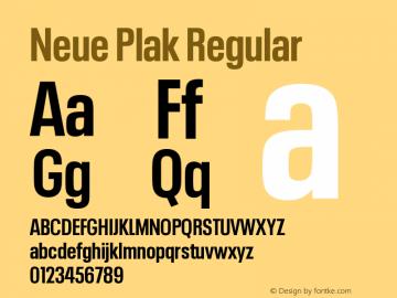 Neue Plak Condensed Bold Version 1.00图片样张
