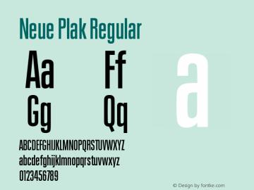Neue Plak Comp SemiBold Version 1.00图片样张