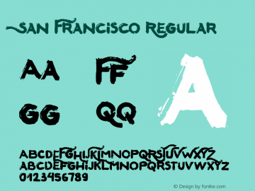 SanFrancisco Version 1.002;Fontself Maker 2.1.2图片样张