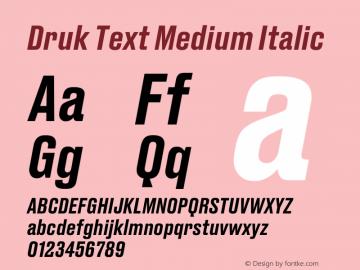 Druk Text Fontdruk Text Medium Italic Fontdruk Text Medium Font