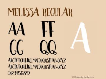 Melissa-Regular Version 1.000图片样张