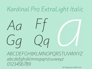 KardinalPro-ExtraLightItalic Version 1.0 | wf-rip DC20180130图片样张