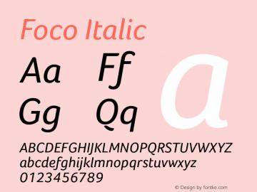 Foco Italic Version 1.000图片样张