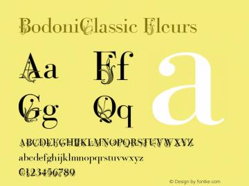 BodoniClassic-Fleurs Version 001.001图片样张
