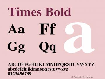 Times Bold 1.0 Wed Jan 15 10:50:21 1997图片样张