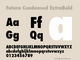 Futura Condensed ExtraBold 4.1d4图片样张