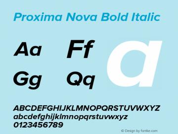 Proxima Nova Bold It Version 2.014图片样张