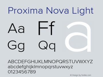 Proxima Nova Light Version 2.014图片样张