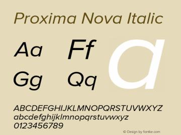 Proxima Nova Regular It Version 2.014图片样张