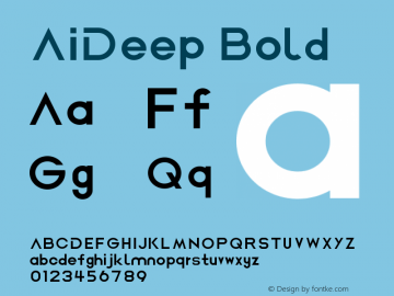 AiDeep Bold Version 1.2 May 21, 2018, initial release图片样张