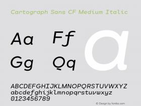 CartographSansCF-MediumItalic Version 1.000;PS 001.000;hotconv 1.0.88;makeotf.lib2.5.64775图片样张