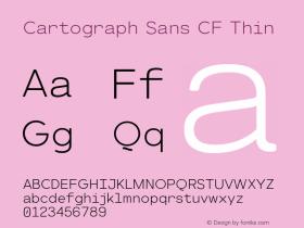 CartographSansCF-Thin Version 1.000;PS 001.000;hotconv 1.0.88;makeotf.lib2.5.64775图片样张