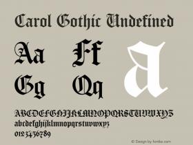 Carol Gothic paratype.carol-gothic.regular图片样张