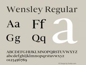 Wensley-Regular 0.1.0图片样张