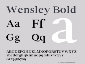Wensley-Bold 0.1.0图片样张