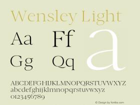 Wensley-Light 0.1.0图片样张