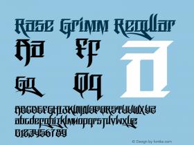 RaseGrimm-Regular Version 1.000图片样张