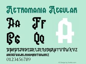 Retromania Version 1.00 May 12, 2018, initial release图片样张