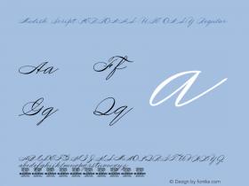 Medish Script PERSONAL USE ONLY Version 1.000图片样张