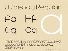 Wideboy Version 1.00;May 21, 2018;FontCreator 11.5.0.2427 64-bit图片样张