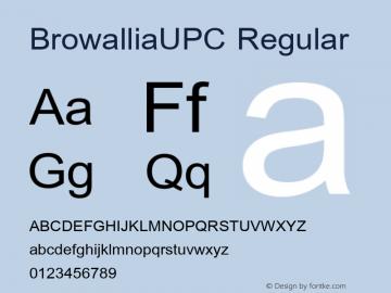 BrowalliaUPC Version 5.05图片样张