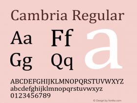 Cambria Version 6.99图片样张