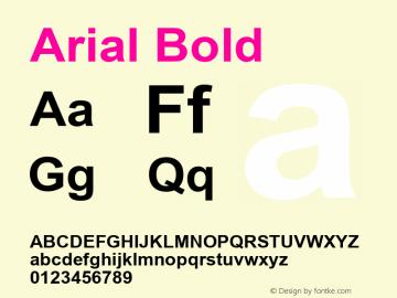 Arial Bold Version 7.00图片样张