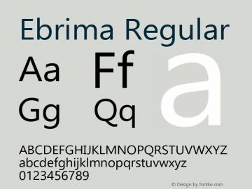 Ebrima Version 5.12图片样张