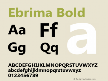 Ebrima Bold Version 5.12图片样张