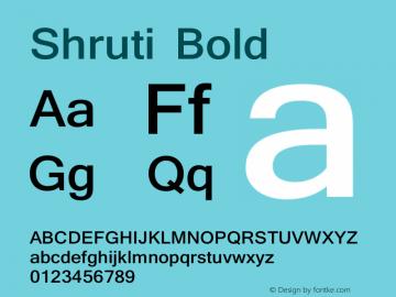 Shruti Bold Version 6.90图片样张