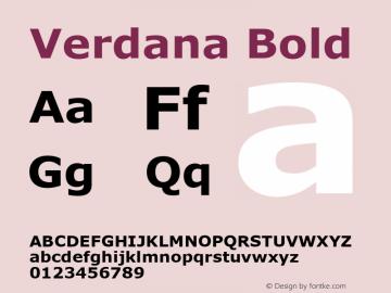 Verdana Bold Version 5.33图片样张