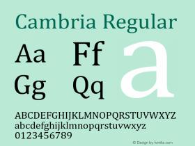 Cambria Version 6.90图片样张
