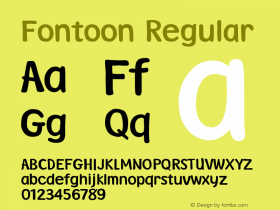Fontoon Version 003.001图片样张