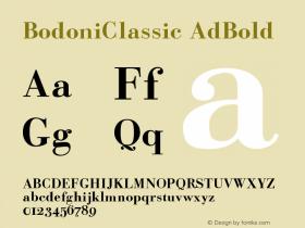 BodoniClassic-AdBold Version 001.000图片样张