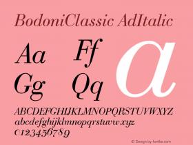 BodoniClassic-AdItalic Version 001.000图片样张