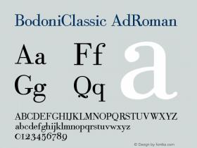BodoniClassic-AdRoman Version 001.000图片样张